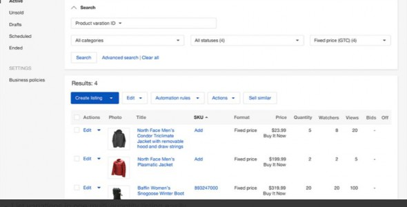 ebay Seller Hubの特徴3:Manage your listings and orders more efficiently